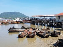 Boats at Myeik's busy port