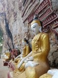 Buddhist statues in Hpa-An's caves