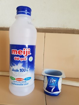 Milk and yoghurt used to make semi delicious yoghurt