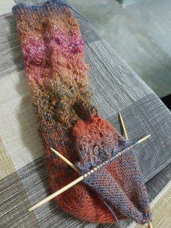 Knitting my way to finishing one sock!