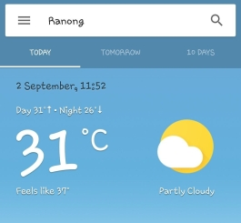 Ranong weather